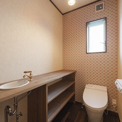 トイレのアクセントクロス
